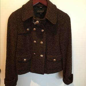 Luisa Spagnoli Italian wool jacket w gold hardware