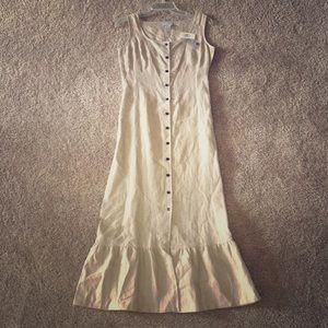 LOFT Dresses & Skirts - Linen Button Down Maxi Dress - Anne Taylor LOFT