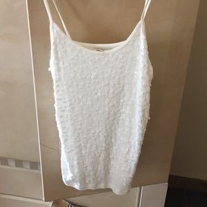 White sequined tank top -Old Navy NWT size L