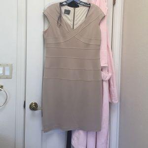 Beige muse dress