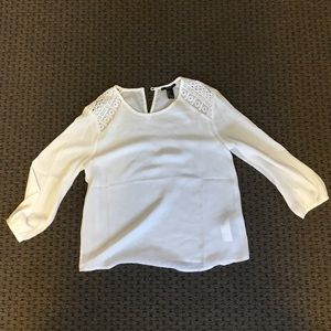 Forever 21 White 3/4 sleeve top