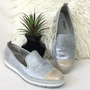 Paul Green Shoes - Paul Green Leather espadrille slip-on sneakers