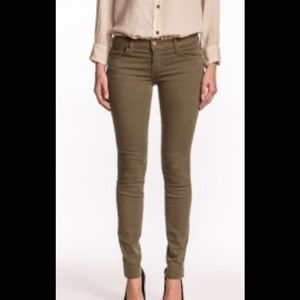 "Current/Elliott ""the ankle skinny"", army green"