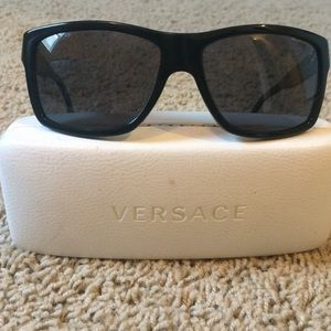 Versace polarized black sunglasses