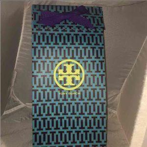 """3/$25 Tory Burch Tall 7"""" X 13"""" BLUE gift bag"""