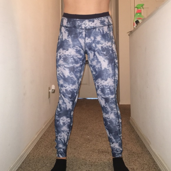 c2911f46b2 lululemon athletica Pants | Lululemon Blue Tiedye Yoga | Poshmark