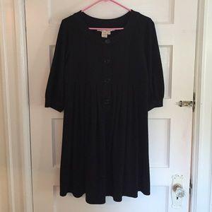 Max Studio Black Dress with Pleated Bottom