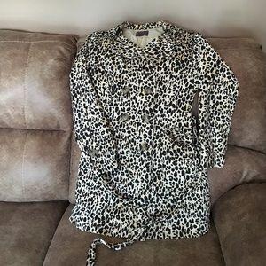 Leopard printed 3/4 fall coat