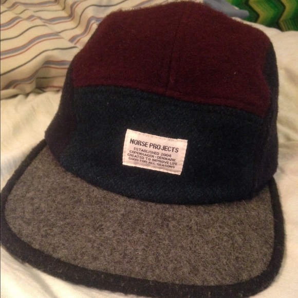 ... get rare norse projects wool 5 panel camp cap hat 47ab4 11393 ... c2fd0d1ddd06