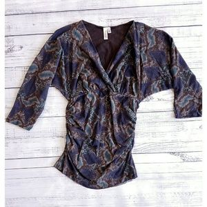 Sweet Pea Tops - Maternity top, snakeskin print
