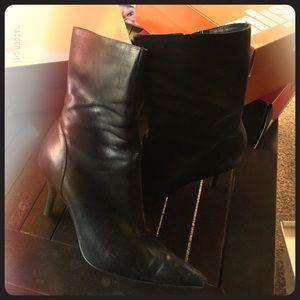 Steve Madden mid-calf & heel black boots