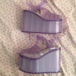 bd724356f6b UNIF Shoes - Purple Hella Jellies