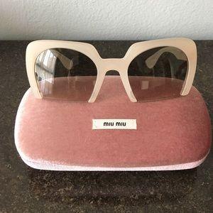 c97f429c18ca Miu Miu Accessories - Miu Miu  390 Semi Rimless Plastic Frame Sunglasses
