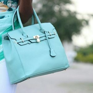 Mint green bag