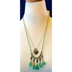 Double strand boho necklace