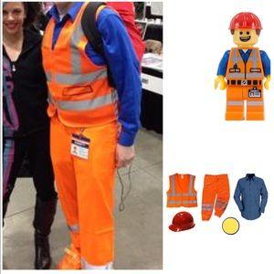 Emmet Lego Movie Costume- Mesh Vest & Pants