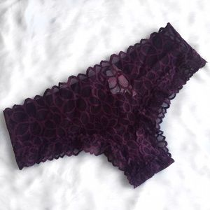 PINK Victoria's Secret Other - Pink VS Burgundy Lace Extra Low Rise Cheekster