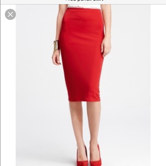 45% off Express Dresses & Skirts - Red form fitting pencil skirt ...