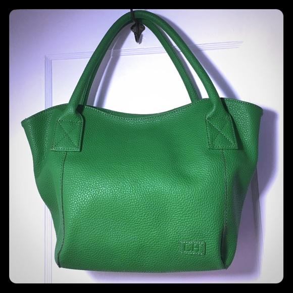 Louen Hide - 🌞 SALE Green pebbled leather handbag satchel from ...