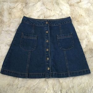 Forever 21 Dresses & Skirts - Forever 21 Denim Snap Front Mini Skirt S