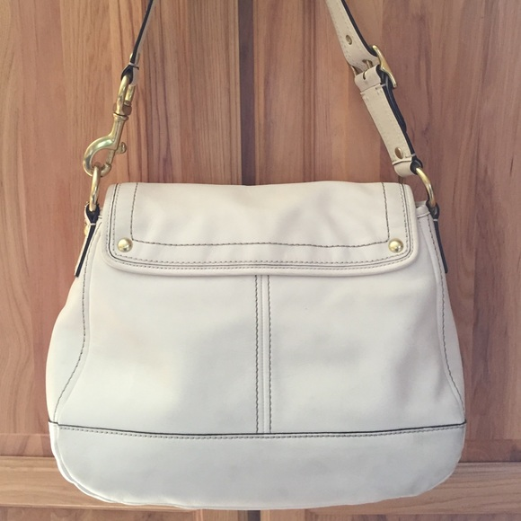 90% off Coach Handbags - Winter White Coach Purse from Melanie's ...