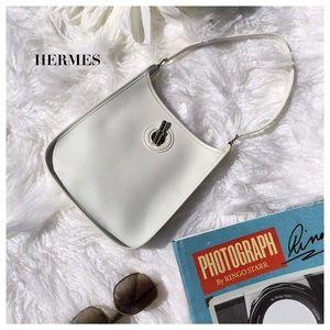 Hermes Handbags - RARE HERMÈS WHITE BAG