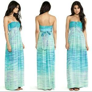 Tiare Hawaii Dresses & Skirts - Tiare hawaii jasmine maxi long dress blue tie dye