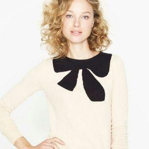 NWT J CREW Giant bow sweater, size L