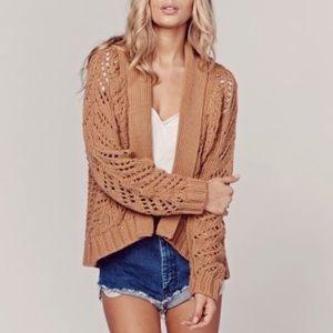 Eternal Sunshine Creations Sweaters - ETERNAL SUNSHINE Stella Camel Cocoon Cardigan M/L