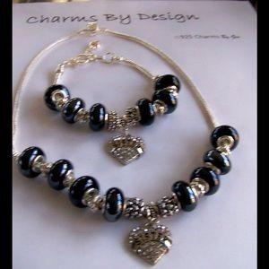 Jewelry - **SALE**Sister's Heart Bracelet Matching Necklace.