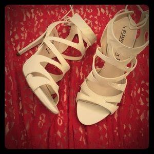 Eliana Bucci Shoes - Nude Strappy Heels: Eliana Bucci