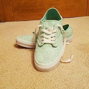 Vans sea green sneakers