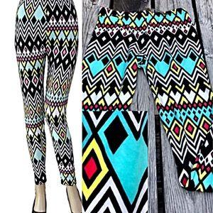 Bright Aztec Leggings! NWT!