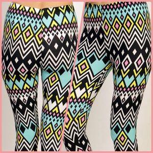 SALE Bright Aztec Leggings! NWT!