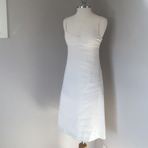 Theory Dresses & Skirts - Theory White Linen Balconette Dress
