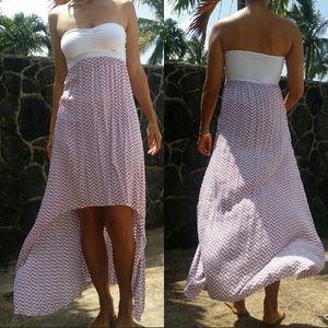 Tiare Hawaii Dresses & Skirts - Tiare hawaii buenos aires hi lo maxi brown chevron