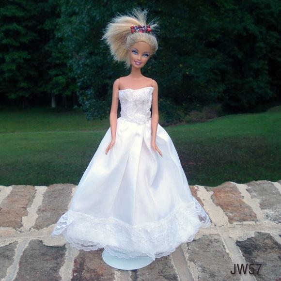 Barbie Wedding Dress.Handmade Barbie Wedding Dress One Of A Kind Boutique