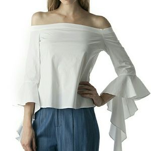 Pre order Bold ruffle off shoulder top