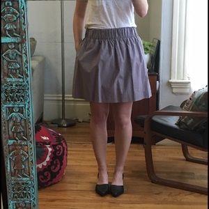 Jcrew purple mini skirt