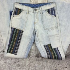 LF Denim - CARMAR super flare patch jeans