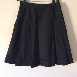 Midi flare black skirt