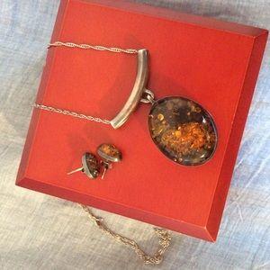 Jewelry - Artisan Handmade Jewelry ✋🏻Amber and Silver Set