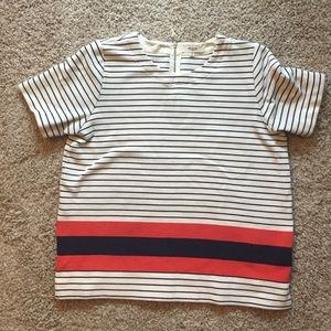 Madewell striped structured tee