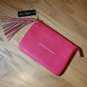 Olivia + Joy Handbags - YOU HAD ME AT MERLOT RED CLUTCH BY OLIVIA + JOY