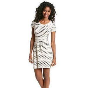Kensie knit polka dot dress