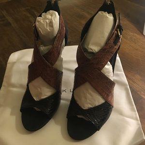 Derek Lam Shoes - Derek Lam Falyn black suede and snake sandal