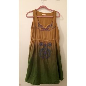 Johnny Was 100% silk embroidered dress