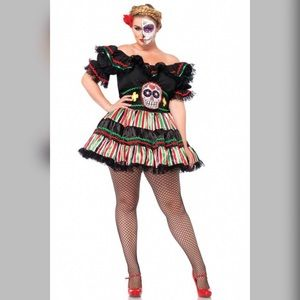 plus size day of the dead costume 3x4x - Cheap Plus Size Halloween Costumes 4x
