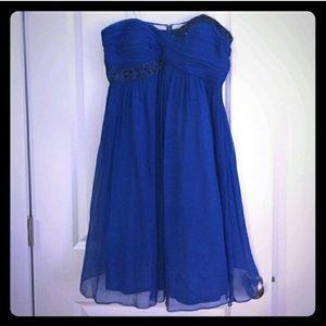 Maggie London Gorgeous Blue Cocktail Dress