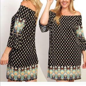 tla2 Dresses & Skirts - 💥HOST PICK 1/30💥BORDER PRINT DRESS OR TUNIC